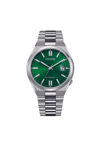 Citizen silver CITIZEN AUTOMATIC NJ0150-81X GREEN DIAL STAINLESS STEEL MEN'S WATCH BA457AC699C565GS_1