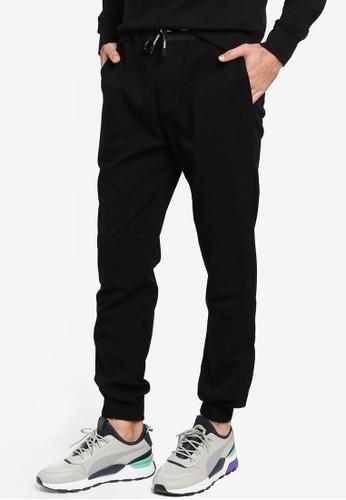 Calvin Klein black A-Mix Media Wool Nylon Pants - Calvin Klein Jeans 5ADDCAAE23DD8CGS_1