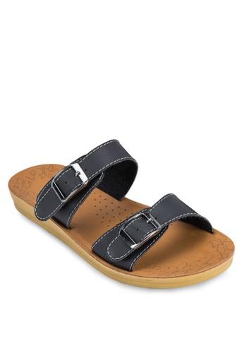 雙扣環帶涼鞋, 女鞋esprit hk store, 涼鞋