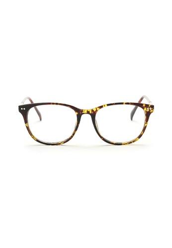 Kyfer's Eyewear & Essentials brown and gold Horn Rim Eyewear II KY376AC75ZWQSG_1
