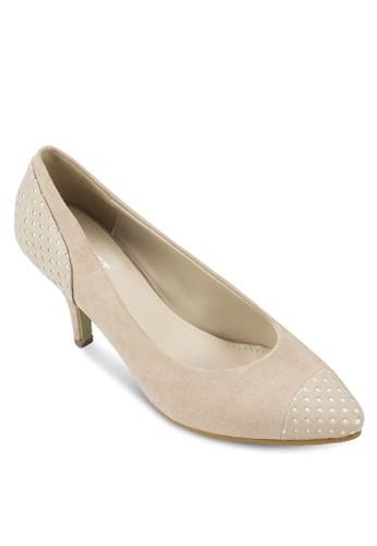 Jeanine 拼zalora是哪裡的牌子色印花尖頭高跟鞋, 女鞋, 厚底高跟鞋