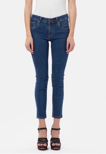MKY Clothing navy MKY Low Waist Skinny Jeans 3F301AAD134007GS_1