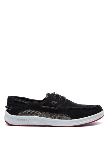 Sperry black Gamefish 3 Eye Knit Boat Shoes SP132SH0IJX4PH_1