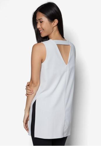 V 領鏤空無袖上衣, 服飾, 服zalora是哪裡的牌子飾