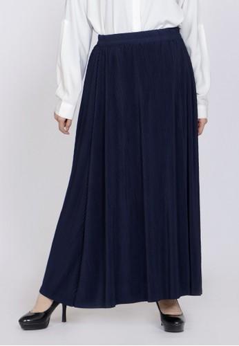 ZAHRA SIGNATURE blue Long Skirt Plisket Alya 90E23AAB308C3DGS_1