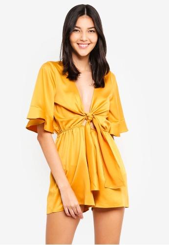 2f1a357245 Buy MISSGUIDED Satin Kimono Sleeve Playsuit Online on ZALORA Singapore