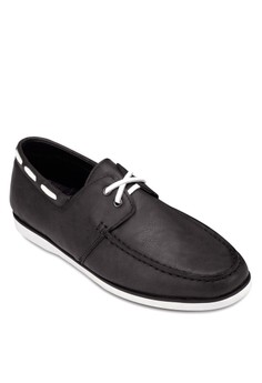 Faux Leather Deck Shoes