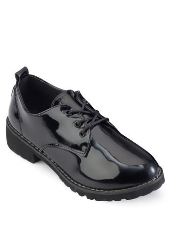 漆皮繫帶牛津皮鞋, 女鞋, 牛津鞋 & 雕花牛esprit童裝門市津鞋