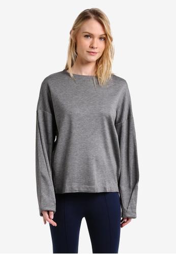 Mango grey Flecked Sweatshirt MA193AA0RMJVMY_1