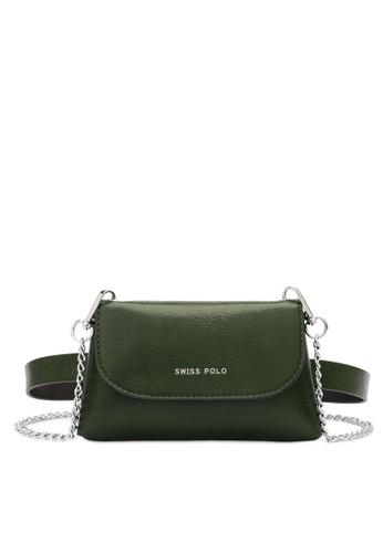 Swiss Polo green 2-Way Usage Chain Bag F5FBCACBBBFC09GS_1