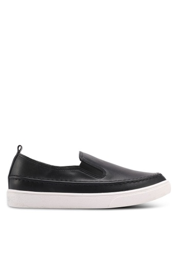 Something Borrowed black Slip-Ons With Back Tab 9396ESH662FD85GS_1