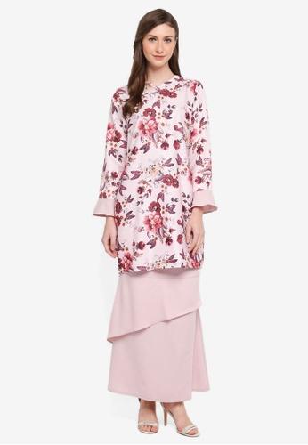 Gene Martino pink Kurung Modern Layered Skirt F7E32AA91B75A6GS_1