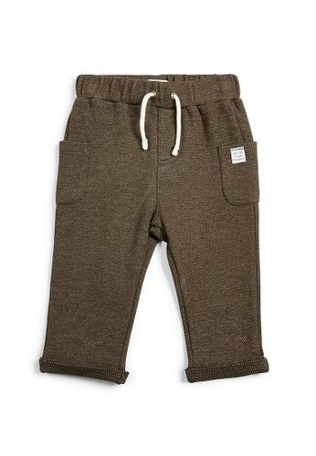 Mamas and Papas brown Textured Joggers - Teal 5BC75KA4390335GS_1