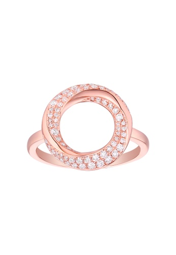 Vedantti pink Vedantti 18K The Circle Slim-All Ring in Rose Gold 41F99AC8269F49GS_1