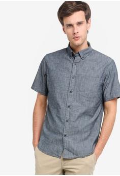 988e0492 Banana Republic blue Short Sleeve Chambray Shirt 876B8AA3FB337BGS_1