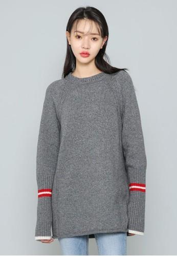 線條細節長款針織毛衣, 服飾, 毛衣&esprit 高雄 針織外套