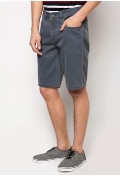 Coated Shorts with Heavy Enzyme Washing