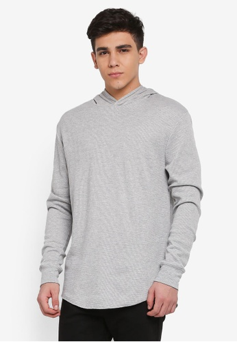 Cotton On grey Hooded Waffle Long Sleeve T-Shirt A3D14AA8E81847GS_1