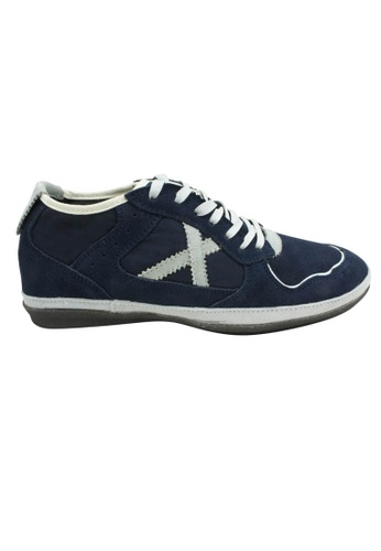midzone blue Suede Leather Sneaker MI949SH61XESMY_1
