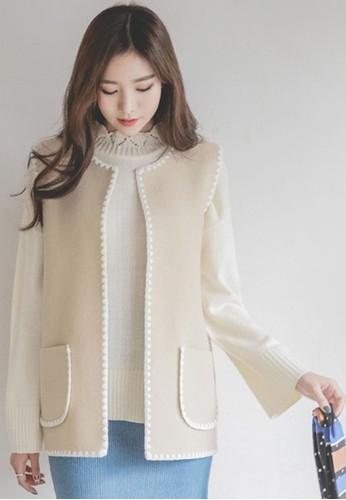 敞懷蕾絲邊緣馬甲, 服飾,zalora 心得 毛衣& 針織外套