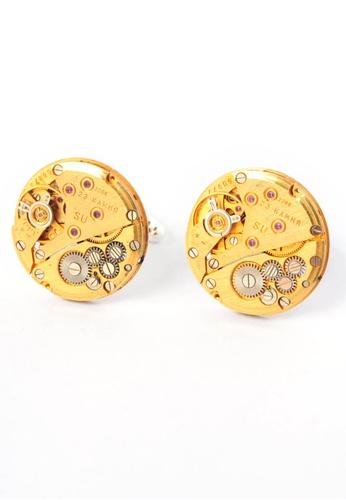 Splice Cufflinks gold Gold Round Watch Movement Cufflinks SP744AC95CPOSG_1