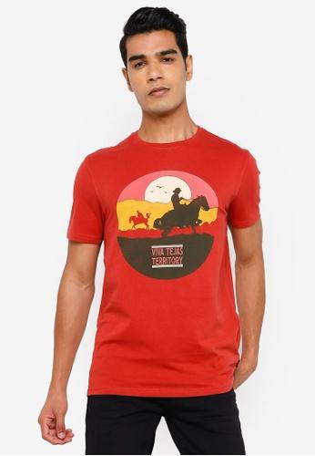 Springfield orange Cowboy T-Shirt CB564AADA49A4FGS_1