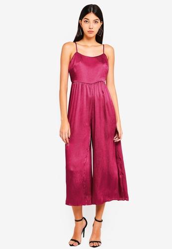 Glamorous pink Metallic Jumpsuit B0A53AA6ECDD88GS_1