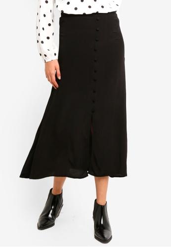 Pieces black Randi Midi Skirt C7816AAF7B4197GS_1