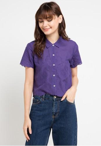 Gaff purple Top Erob Emb Blouse 6FBD0AA6091568GS_1