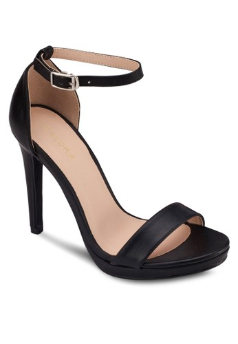 一字帶esprit 見工繞踝高跟涼鞋, 女鞋, 鞋
