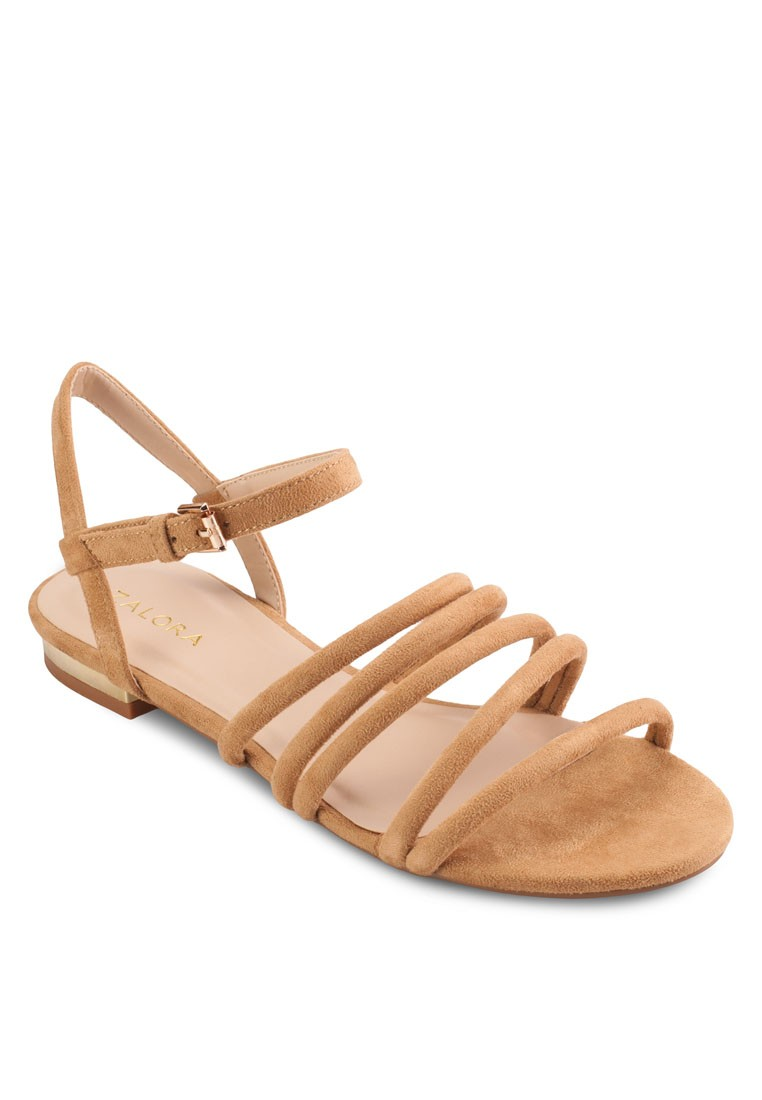 Padded Strappy Flat Sandals