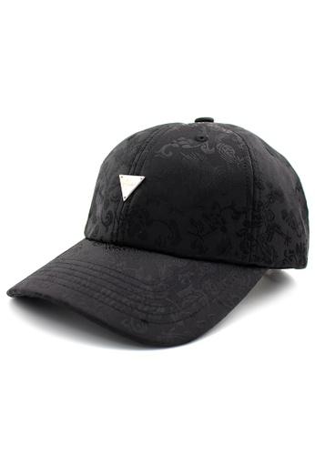 DOSSCAPS black HATER Chinese Flower Cap (Black) 85B70AC482C4CBGS_1