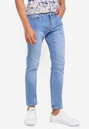 Topman 藍色 緊身牛仔褲 60D1EAA96356E8GS_1