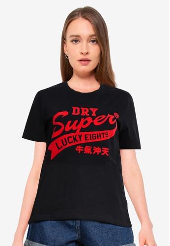 Superdry black CNY Print Tee CE312AA48A1B64GS_1