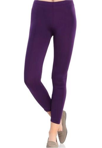 Jual Evernoon Kimberlly Soft Legging Celana Panjang Slim Fit Casual Wanita Ungu Original Zalora Indonesia