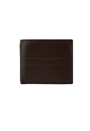 EXTREME brown Extreme Genuine Leather Short Wallet Bifold Middle Flap Chocolate Brown AE9EBAC098E632GS_1