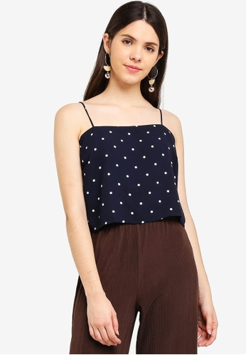 Cotton On navy Pippa Chopped Cami Top 06C0CAAE8E68EEGS_1