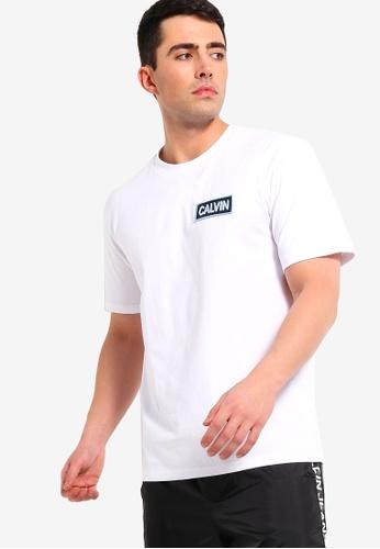 Calvin Klein 白色 Calvin 胸圍刺繡T恤 9FB13AAEDB9959GS_1