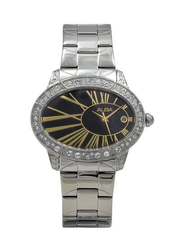 Alba silver ALBA Jam Tangan Wanita - Silver Black Gold - Stainless Steel - AXT317 7A813ACE6BDB24GS_1