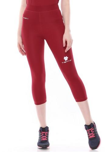 Jual Tiento Tiento Women Compression 3 4 Maroon Celana Legging Leging Lejing Sebetis Wanita Olahraga Yoga Zumba Senam Lari Running Voli Original Zalora Indonesia