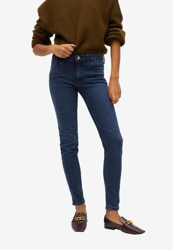 Mango blue Kim Skinny Push-Up Jeans 2166AAA46E1C93GS_1