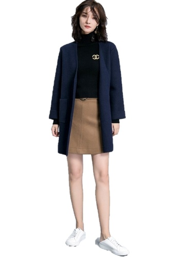 Sunnydaysweety blue F/W Perfect New Mink Wool Knit Coat A111105BLNEW 5CFEDAA4660577GS_1