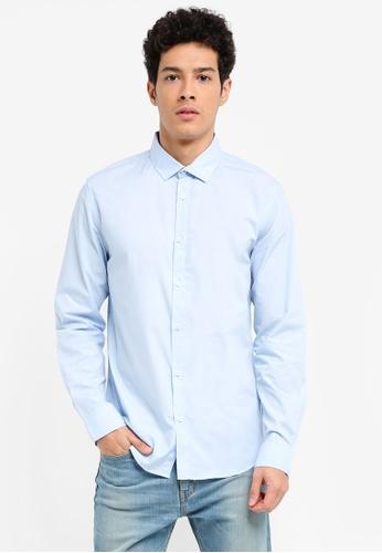 Cotton On blue Slim Smart Shirt 58C79AA0FAF08EGS_1