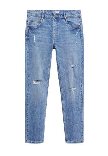 MANGO KIDS blue Slim-Fit Cropped Jeans 71364KA9017C26GS_1