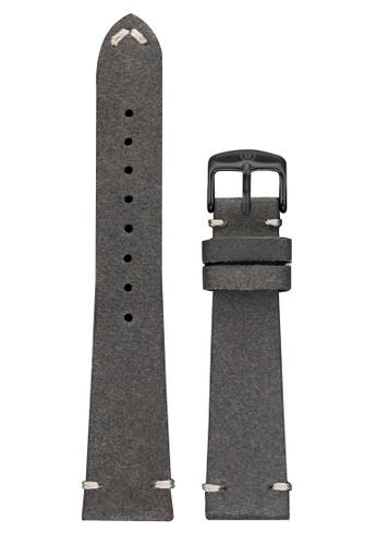 Undone grey Undone Grey Calf Leather Strap 20mm (Black Buckle) UN712AC2VEKFHK_1