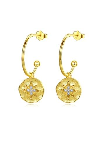 MATCH gold Luxurious Simple Design Earrings 8DA7FAC26D1F9CGS_1