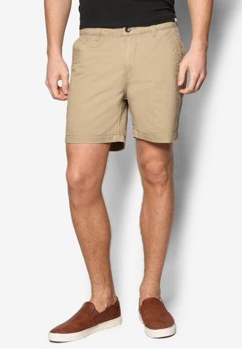 Sparrow Green 褐色 Craig 棉質短褲 SP065AA41WLIMY_1