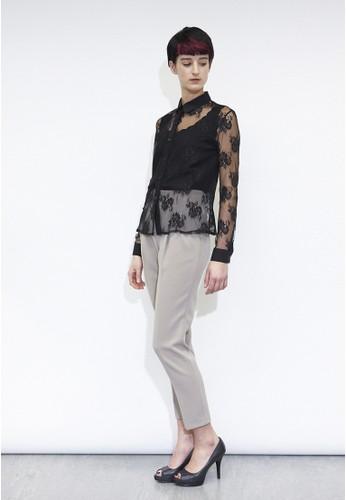 透明蕾絲襯衫,esprit hk store 服飾, 上衣
