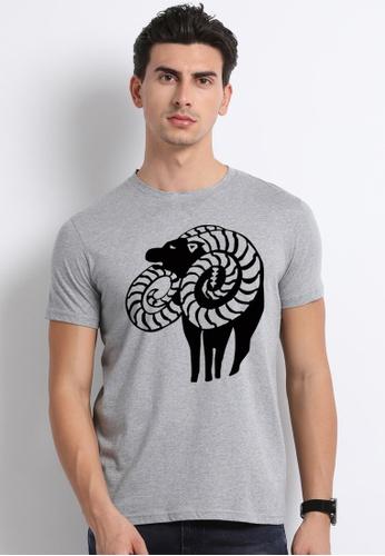 Greatvalueplus grey Lust Men's Round Neck Statement T-Shirt EB69AAA538CD0EGS_1