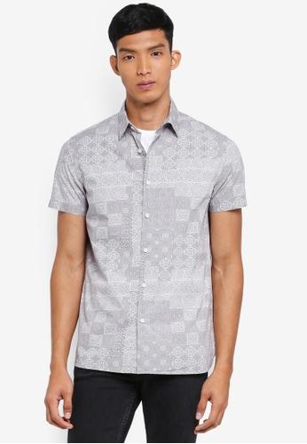 OVS white Printed Pattern Shirt 4F894AA91E45D4GS_1